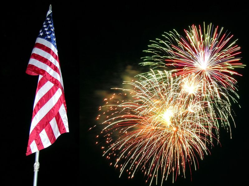 336541 - flag and fireworks,