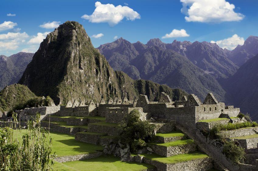 Panorama of Machu Picchu ruins in Cuzco, Peru
