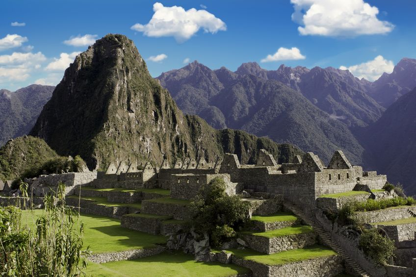 Panorama of Machu Picchu ruins in Cuzco, Peru
